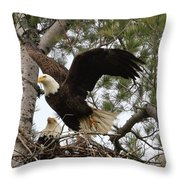 Dad Leaving The Nest Throw Pillow