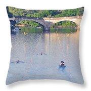 Dad Vail Regatta - Philadelphia Pa Throw Pillow