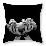 Dad With Baby Throw Pillow