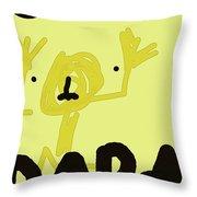 Dada Poster 1 Throw Pillow