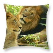 Daddy Luke Bonding With Son Throw Pillow