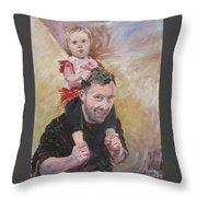 Daddy Ride Throw Pillow