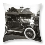Daddy's Motorized Baby Buggy Throw Pillow
