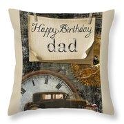 Dad's Birthday Throw Pillow