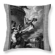 Daedalus And Perdix Throw Pillow