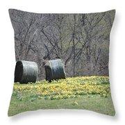 Daffodil Bales Throw Pillow
