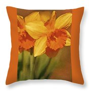 Daffodil Delights Throw Pillow