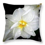 Daffodil Diagonal Throw Pillow