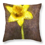 Daffodil Pencil Throw Pillow