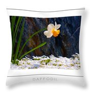 Daffodil Poster Throw Pillow