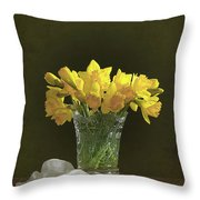 Daffodil Still Life Throw Pillow