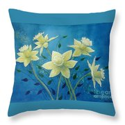 Daffodil Welcome Throw Pillow