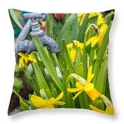 Daffodils 2 Throw Pillow