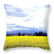 Daffodils By The Million Throw Pillow