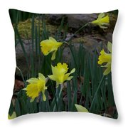 Daffodils In The Smokies Throw Pillow
