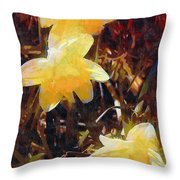 Daffs Gone Goth Throw Pillow