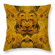 Daffy Daffodils Throw Pillow