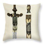 Dagger And Sheath Throw Pillow