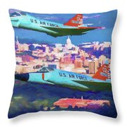 Daggers Over Madison In Oil Throw Pillow