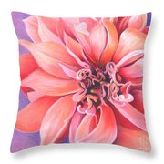 Dahlia 2 Throw Pillow by Phyllis Howard