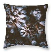 Dahlia Abstraction Throw Pillow