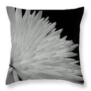 dahlia BnW Throw Pillow