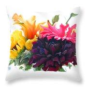 Dahlia Bouquet Throw Pillow