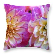 Dahlia Cousins Throw Pillow