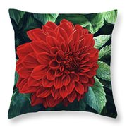Dahlia Dawn Throw Pillow