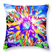 Dahlia Dazzle Throw Pillow