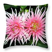 Dahlia Duo Throw Pillow
