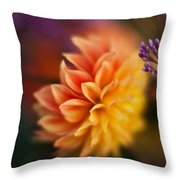 Dahlia Fireball Throw Pillow