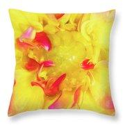 Dahlia Flower Throw Pillow