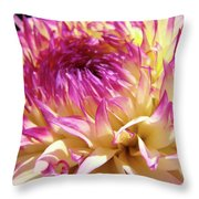 Dahlia Flower Art Sunlit Floral Prints Baslee Troutman Throw Pillow