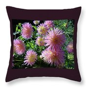 Dahlia Group Throw Pillow