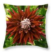 Dahlia In Bloom 18 Throw Pillow