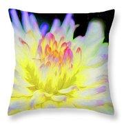 Dahlia In The Glow Throw Pillow