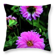 Dahlia Mirror Throw Pillow