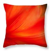 Dahlia On Fire Throw Pillow
