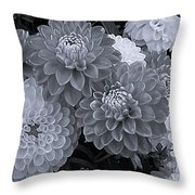 Dahlias Multi Bw Throw Pillow
