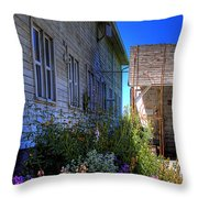 Dahmen Barn Flowers Throw Pillow