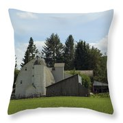 Dahmen Barn Historical Throw Pillow