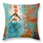 Daily Abstract Week 2, #3 Throw Pillow