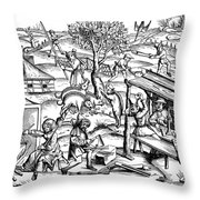 Daily Life: France, 1517 Throw Pillow