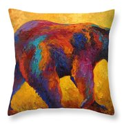 Daily Rounds - Black Bear Throw Pillow