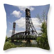 Dain City Railroad Bridge Throw Pillow