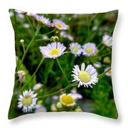 Dainty Flowers Throw Pillow