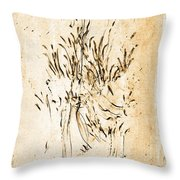 Dainty Flowers Throw Pillow