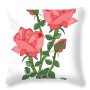 Daiquiri Roses In January 2010 Throw Pillow
