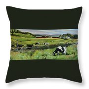 Dairy Farm Dream Throw Pillow
